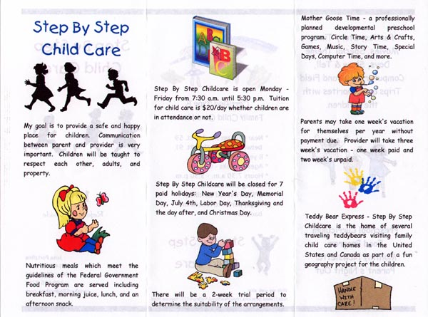 Child Care Center Brochure Examples
